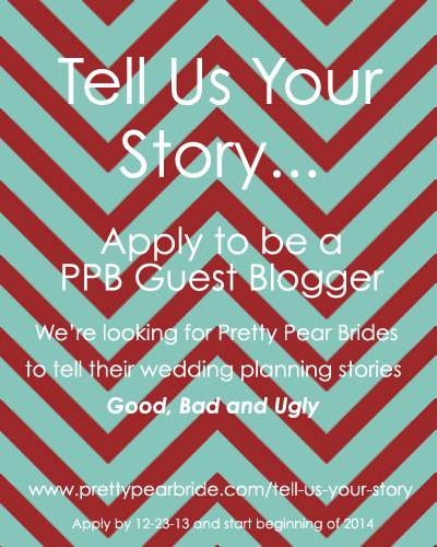 tell us your story, pretty pear bride