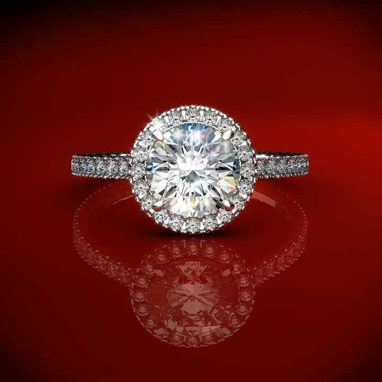 halo engagement ring, james allen