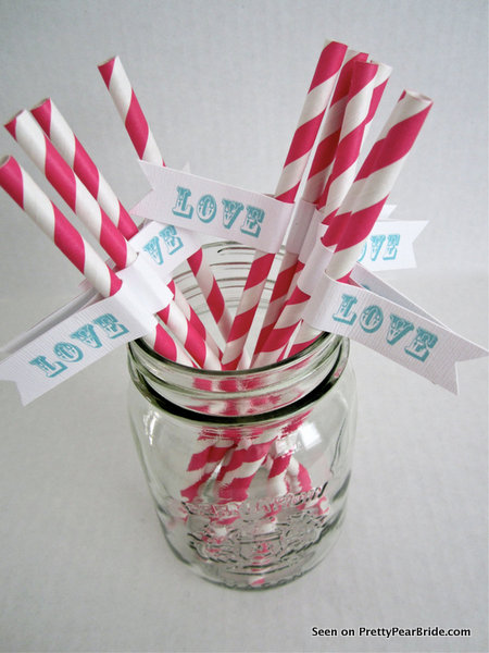 Paper Straws from LollipopsAndPussycat