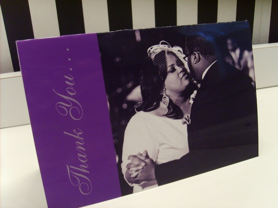 plus size bride thank you card