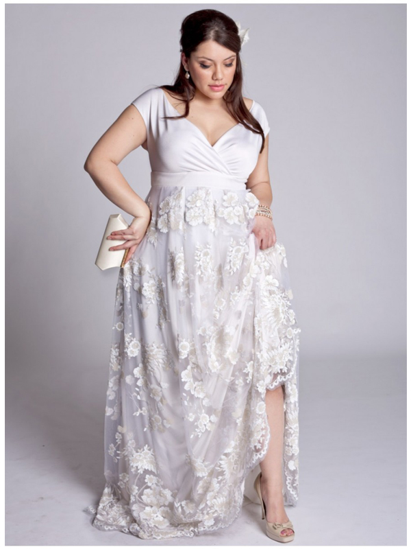 plus size bride, plus size wedding gown