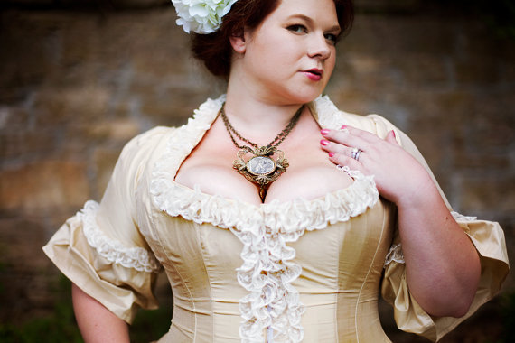 plus size vintage wedding gown, plus size victorian wedding gown
