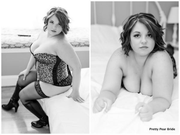 plus size boudoir shoot, plus size bride