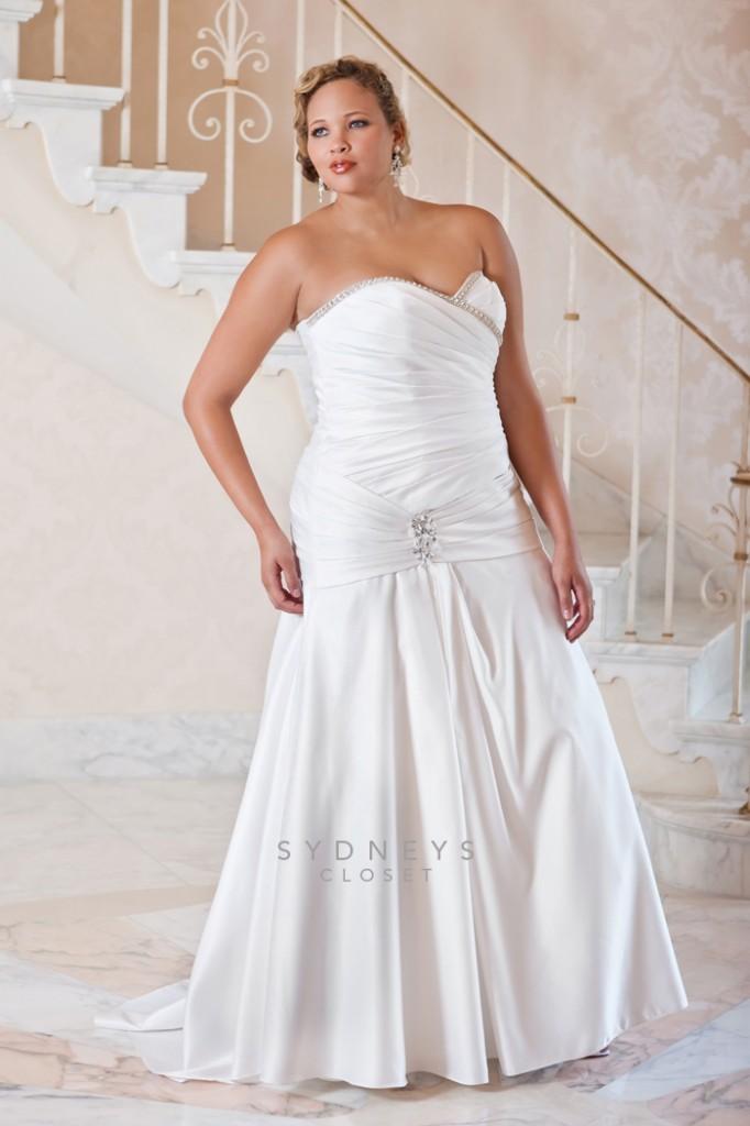 plus size bride, sydney's closet