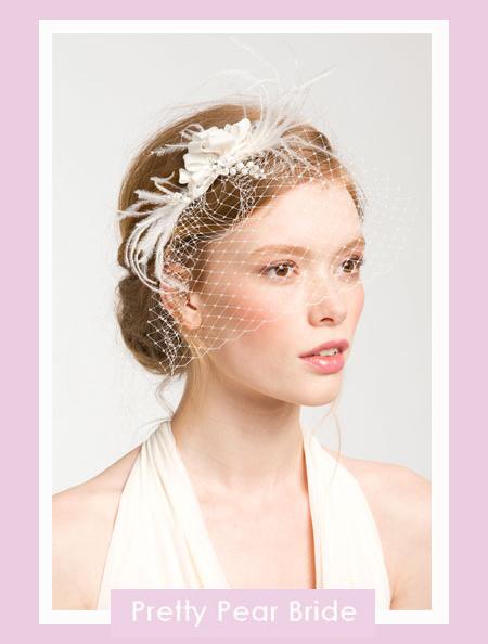 'Whispering Flower' Veil Hair Comb; Nordstrom, $48
