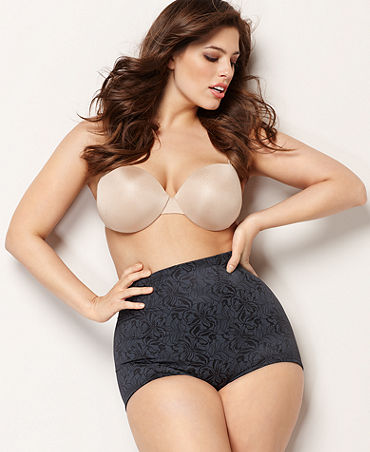 Flexees by Maidenform Plus Size Shapewear, Fat Free Dressing Firm Control Tummy Toning Brief 16854 (in white); Macy's, ON SALE for $26.25