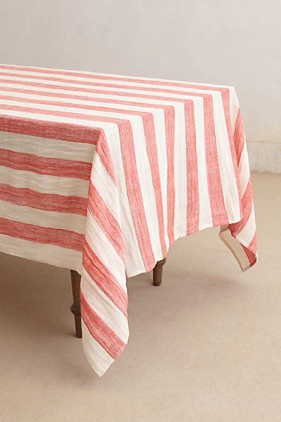 Sea Stripes Table Cloth (coral); Anthropologie, $88