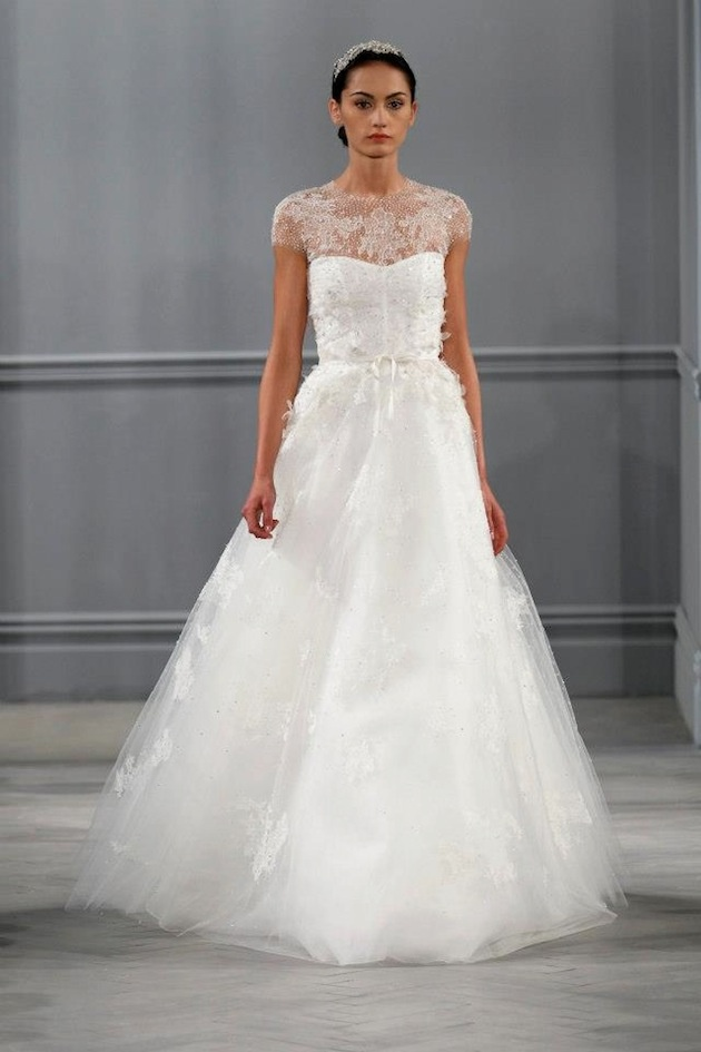 Monique Lhuillier Spring 2014 Wedding Dress Collection