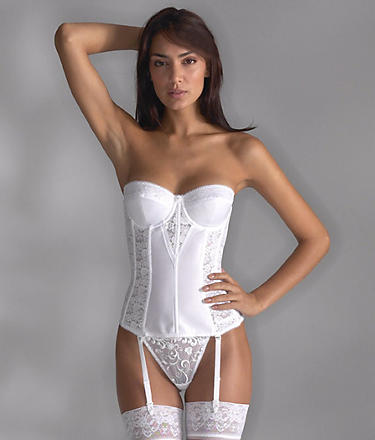 Dominique: Longline Lace Torsolette; Bare Necessities, $69