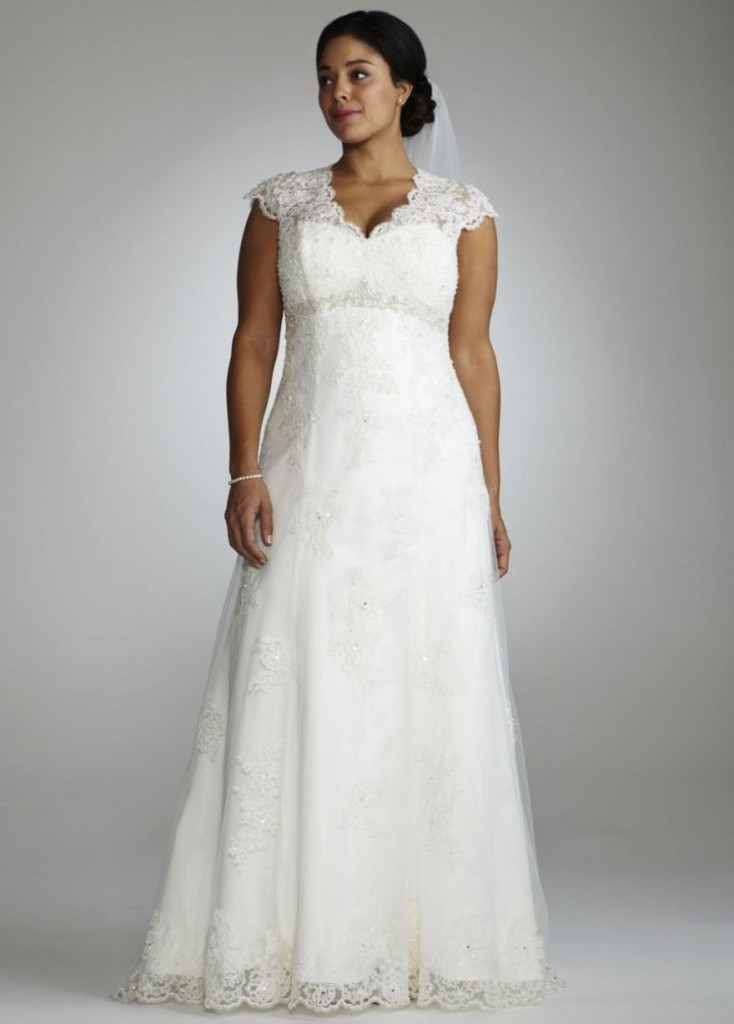 plus size bride, david's bridal