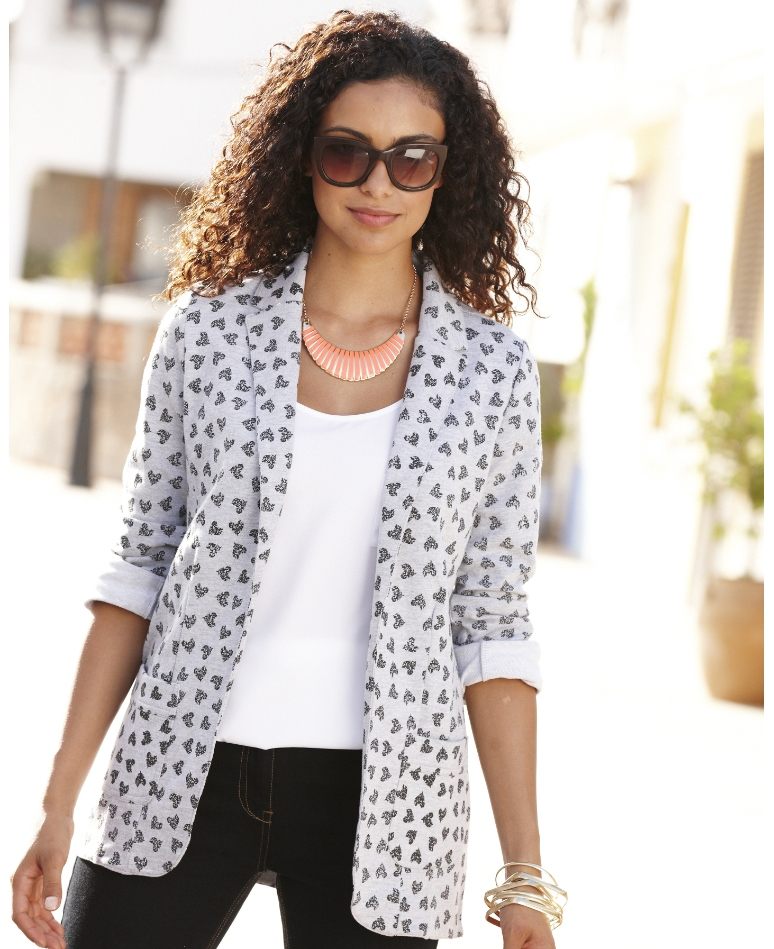 3/4 Sleeve Jersey Blazer; Simply Be, Was $55, Now ON SALE for $38.50