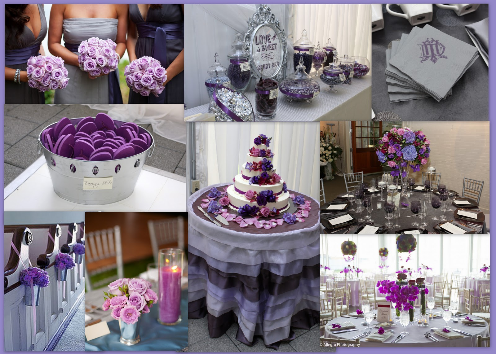 purple and gray wedding decorations wedding tip thursday choosing colors the pretty pear 6869