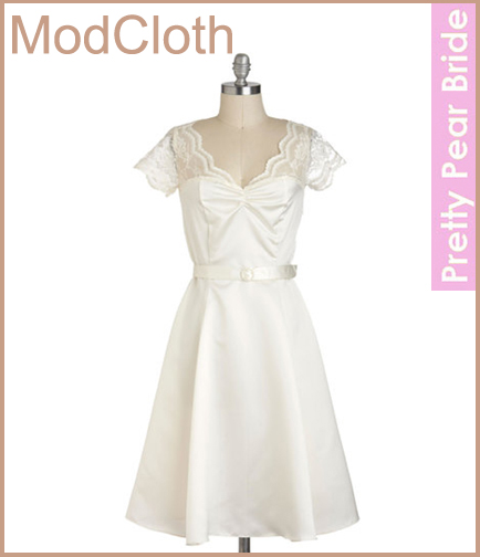 Black Tie Optimal Dress in Ivory; ModCloth, $139.99