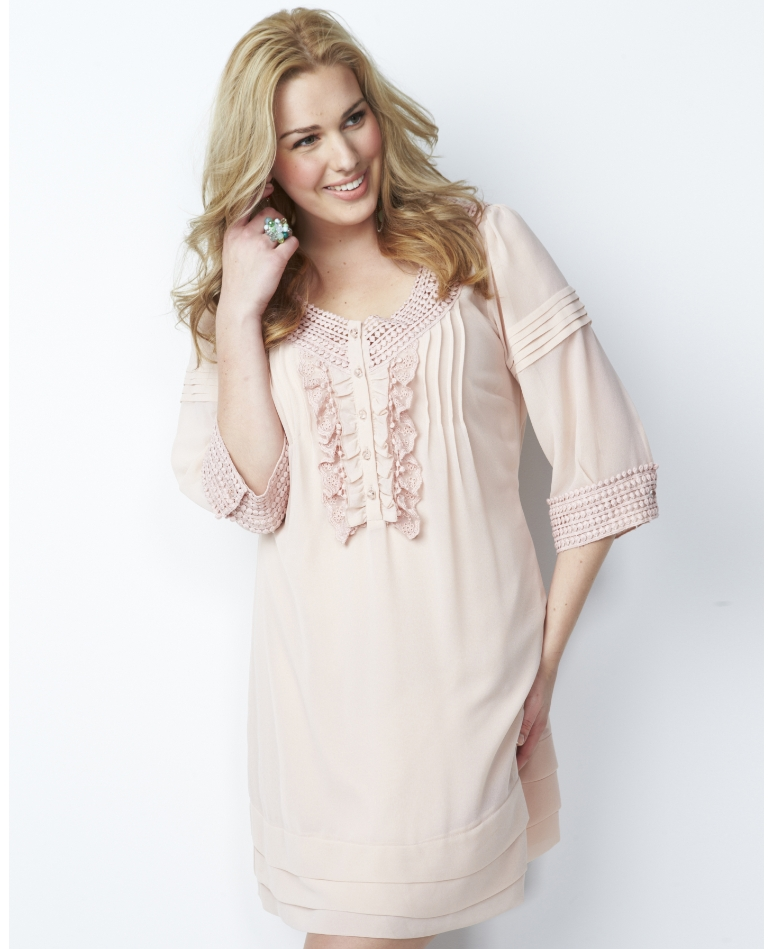 Crochet Trim Tunic; Simply Be, was $80 now ON SALE for $40