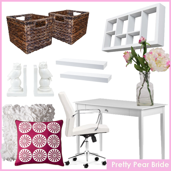 Images clockwise from top right: Jensen Display Shelf; jcpenny, $44.99 // Floral Table Arrangement Peony 9.5