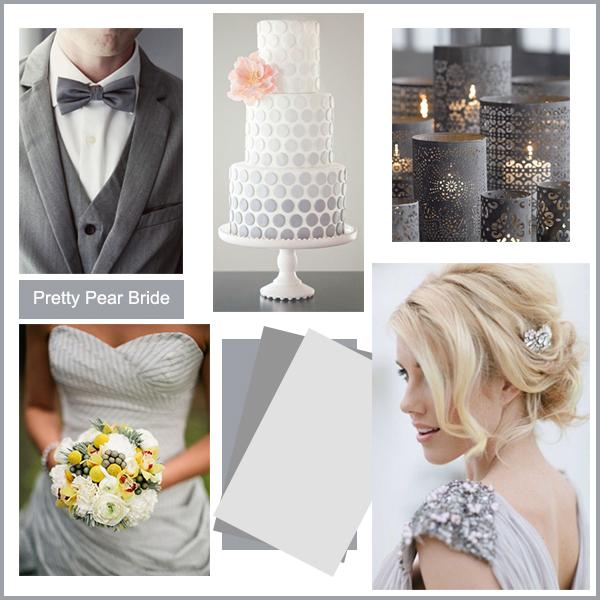 images clockwise from top right: Candles; Pinterest // Bride; Pinterest // Wedding Dress; Rock My Wedding // Tux; weddingomania // Cake; Pinterest