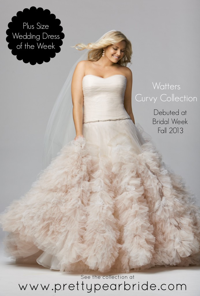 plus size bride, curvy bride, watters curvy collection