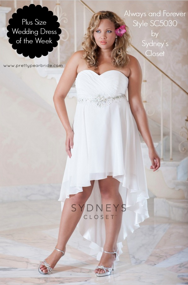plus size bride, sydney's closet plus size wedding gown