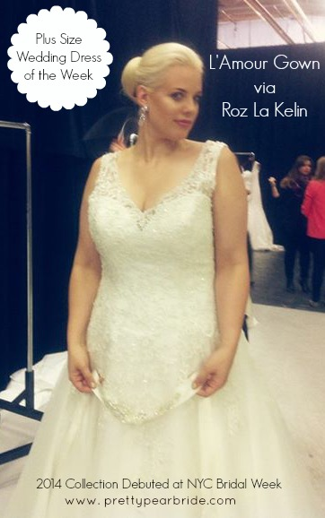 plus size wedding dress of the week | The Pretty Pear Bride - Plus ...