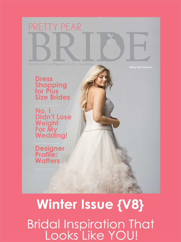 plus size bride magazine,