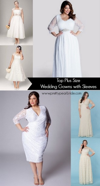plus size wedding gowns with sleeves