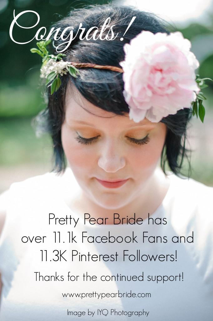 pretty pear bride, plus size brides
