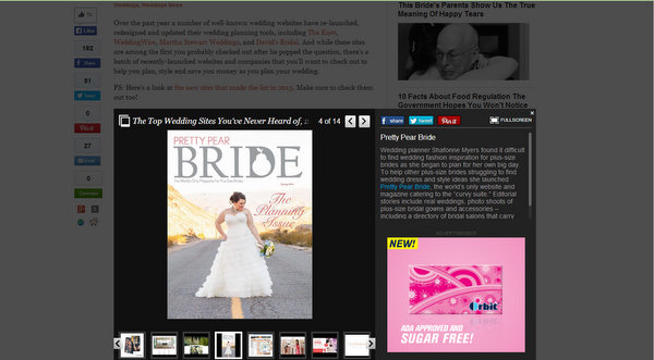 pretty pear bride, huffington post