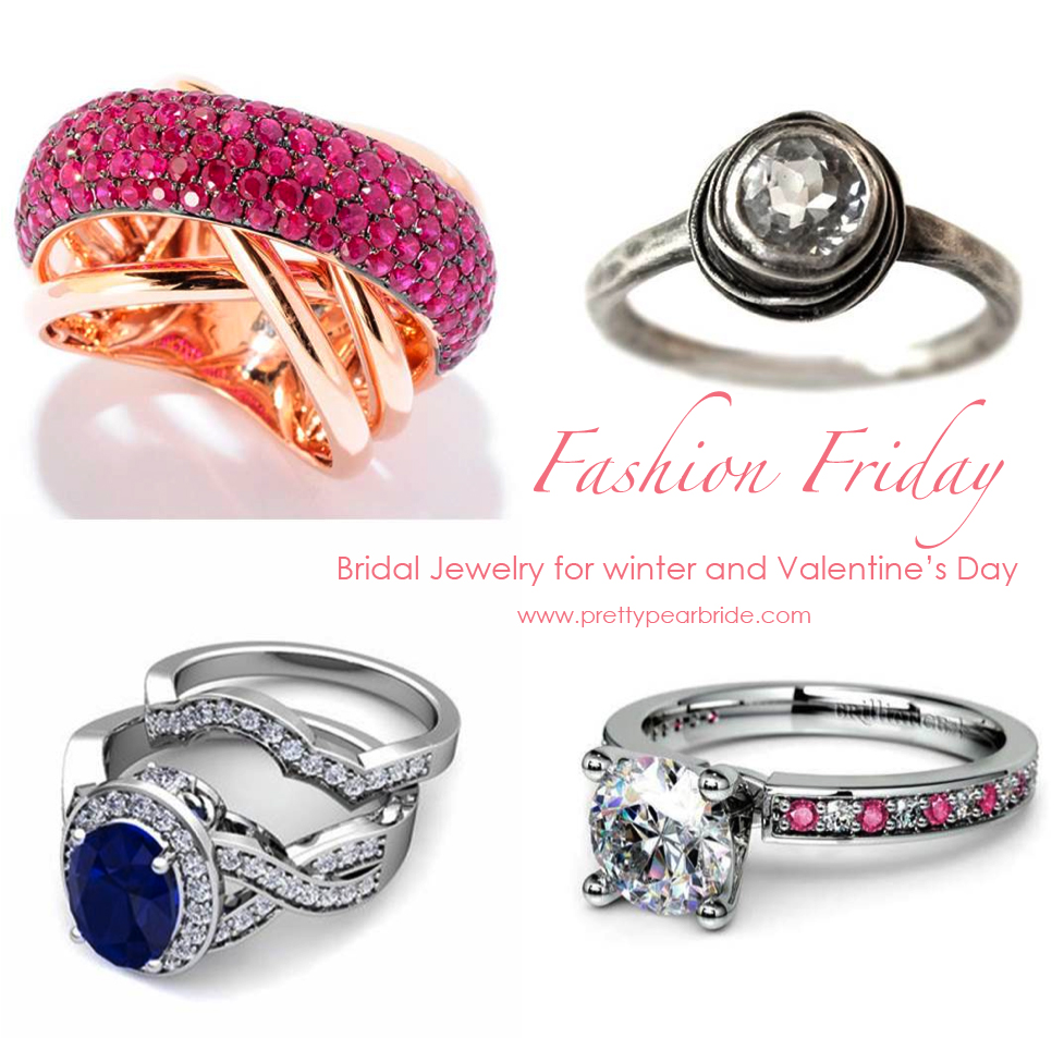 Bridal Jewelry for winter and Valentine's Day