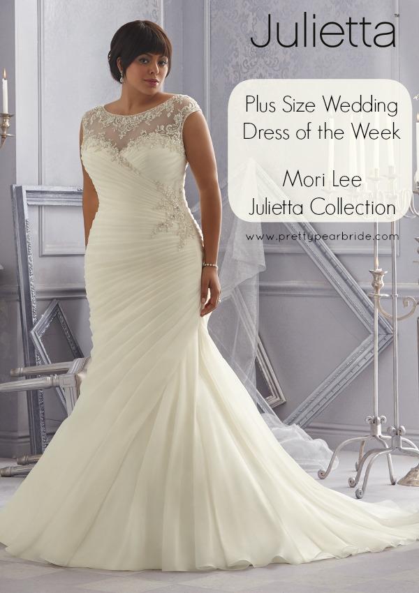 plus size bridal gown, plus size bride, julietta, mori lee