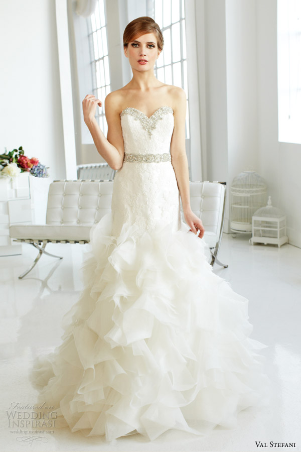 val-stefani-fall-2013-bridal-strapless-organza-mermaid-wedding-dress-d8045-