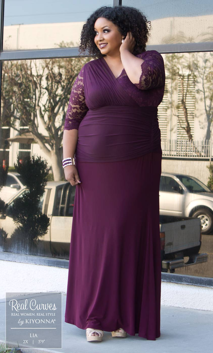 plus size dress, plus size bridal