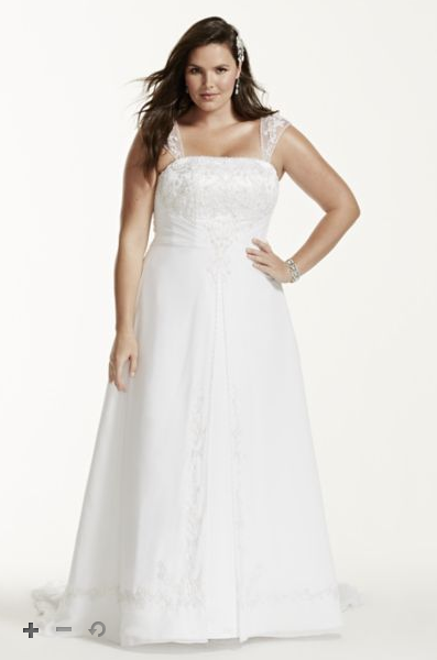 plus size bridal gown