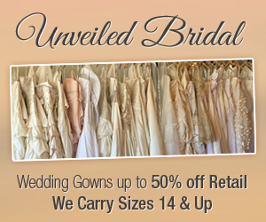 Unveiled Bridal, plus size bridal gowns,