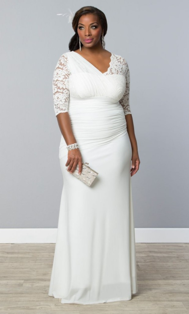 plus size bridal, plus size wedding gown