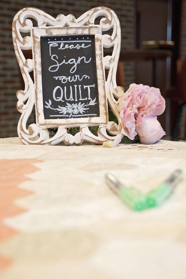 Stunning quilt for a guest book alternative