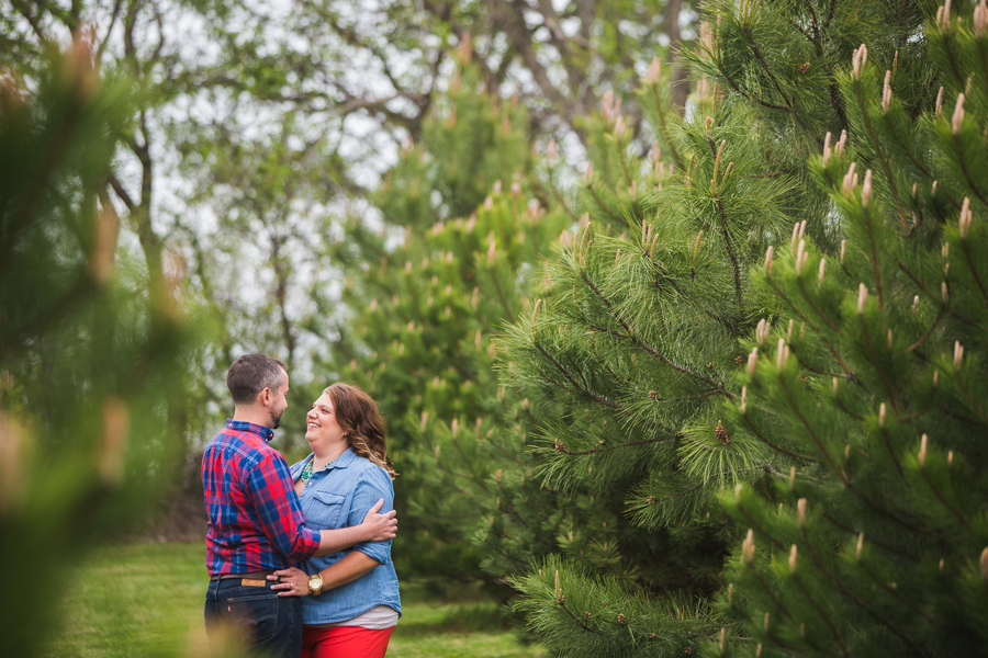 day to night engagement session with a plus size bride