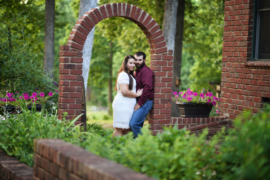 Vintage Farm and Ford engagement session with a stunning curvy bride to be