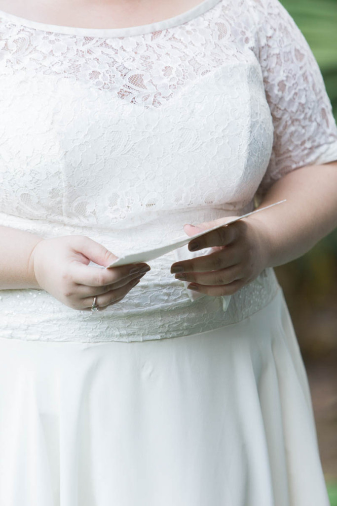 plus size bride in a modern vintage courthouse wedding