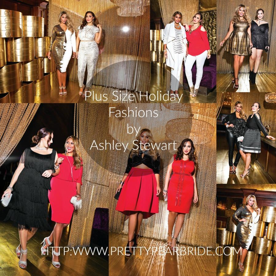 Ashley Stewart Plus Size Holiday Looks | Pretty Pear Bride