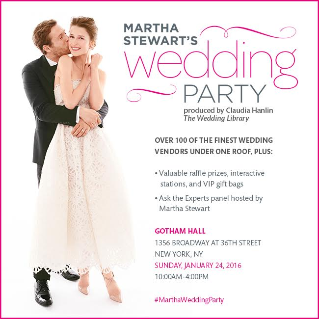 {Contest} Win Tickets to Martha Stewart's Wedding Party