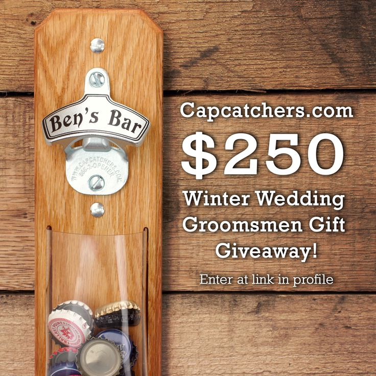 Capcatchers Launches a Winter Wedding Groomsmen Gift Giveaway