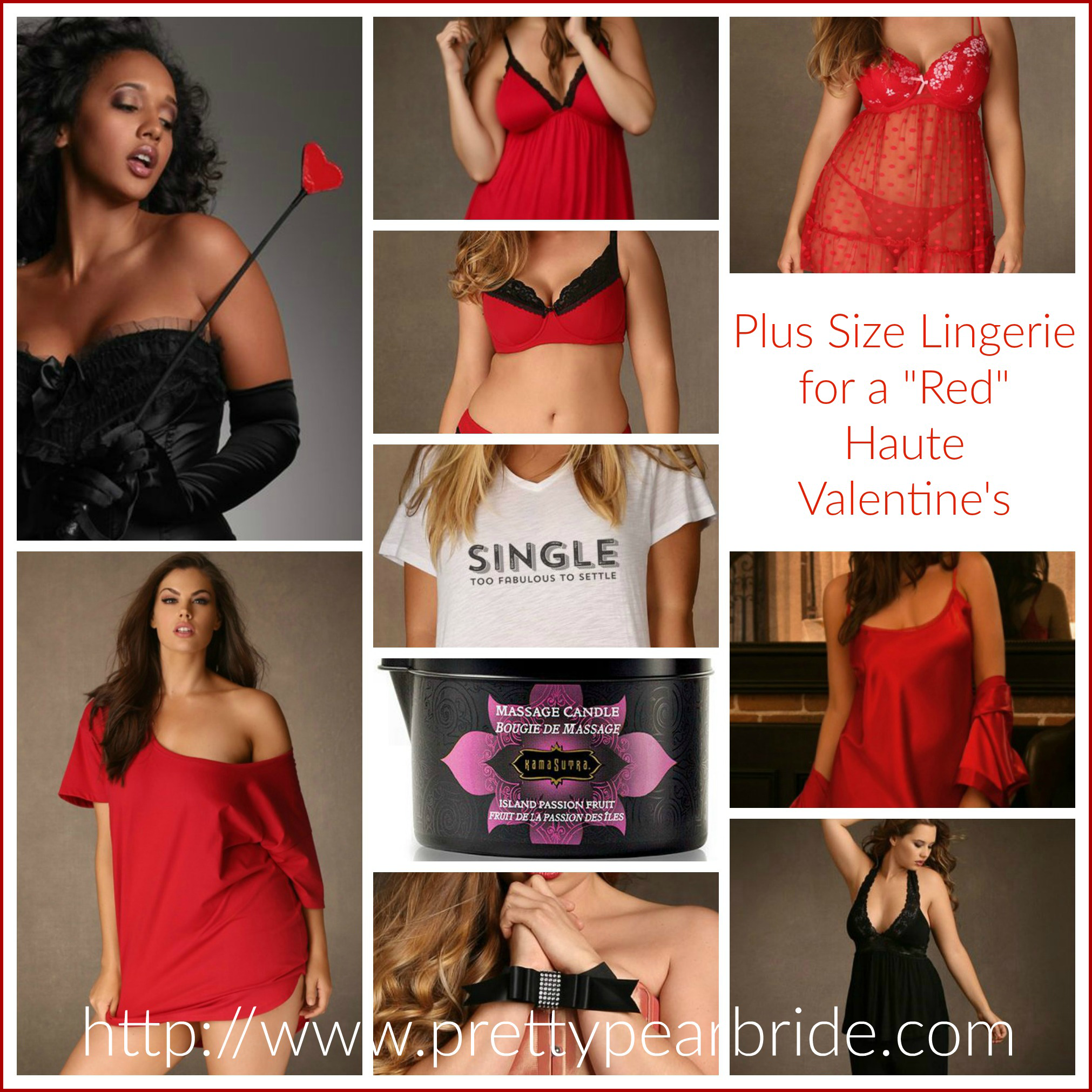 "{Sexy Saturday} Plus Size Lingerie for a ""Red"" Haute Romance"