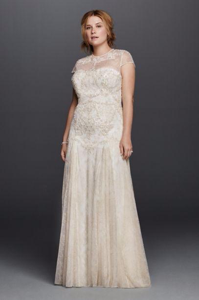 EXTRA LENGTH Melissa Sweet Cap Sleeved Lace Wedding Dress