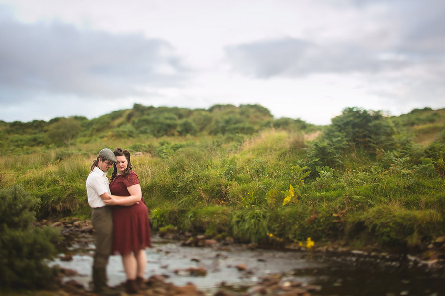{Real Curvy Engagement} Vintage Irish Couple in Ireland | Creatrix Photography