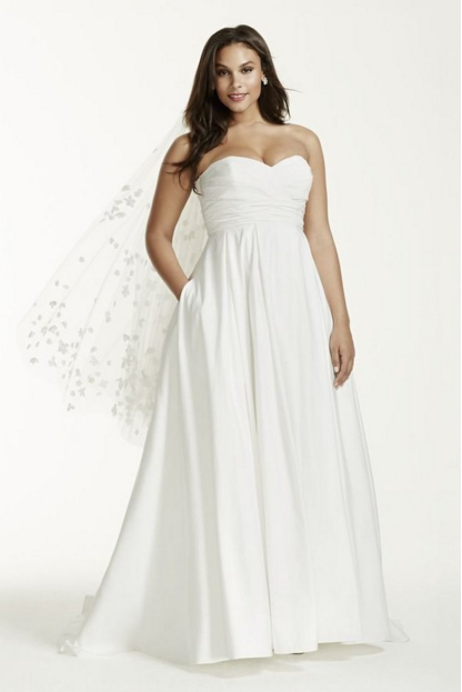 PLUS SIZE WEDDING DRESS OF THE DAY | David's Bridal