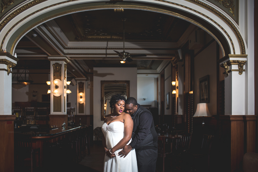 {Real Curvy Engagement} Romantic Lounge Engagement Session | Second Shots Photography