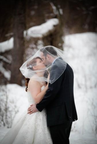 {Real Wedding} Rustic Winter New York Wedding | 13 One Photography | Pretty Pear Bride
