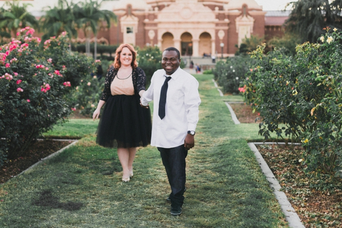 {Plus Size Engagement} Rose Garden Engagement | With Love ~ Photos by Georgie | Pretty Pear Bride