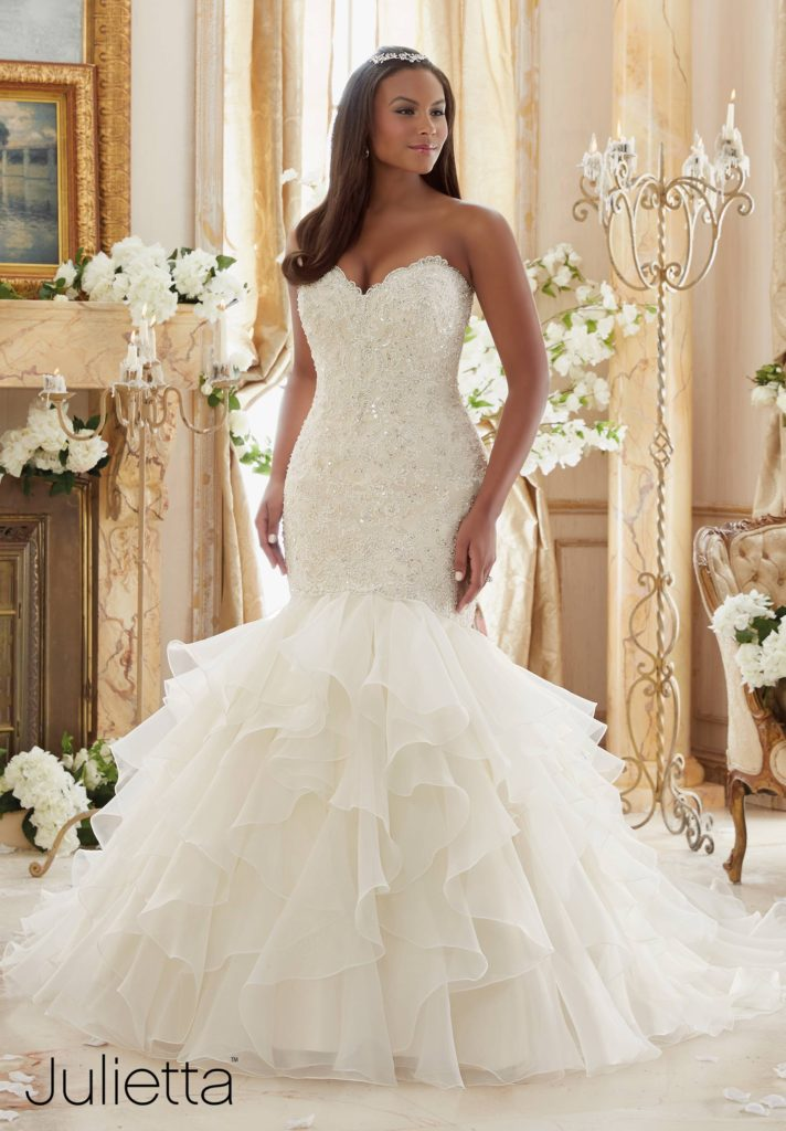 Plus Size Wedding Gowns | Mori Lee | Julietta Collection | Pretty Pear Bride