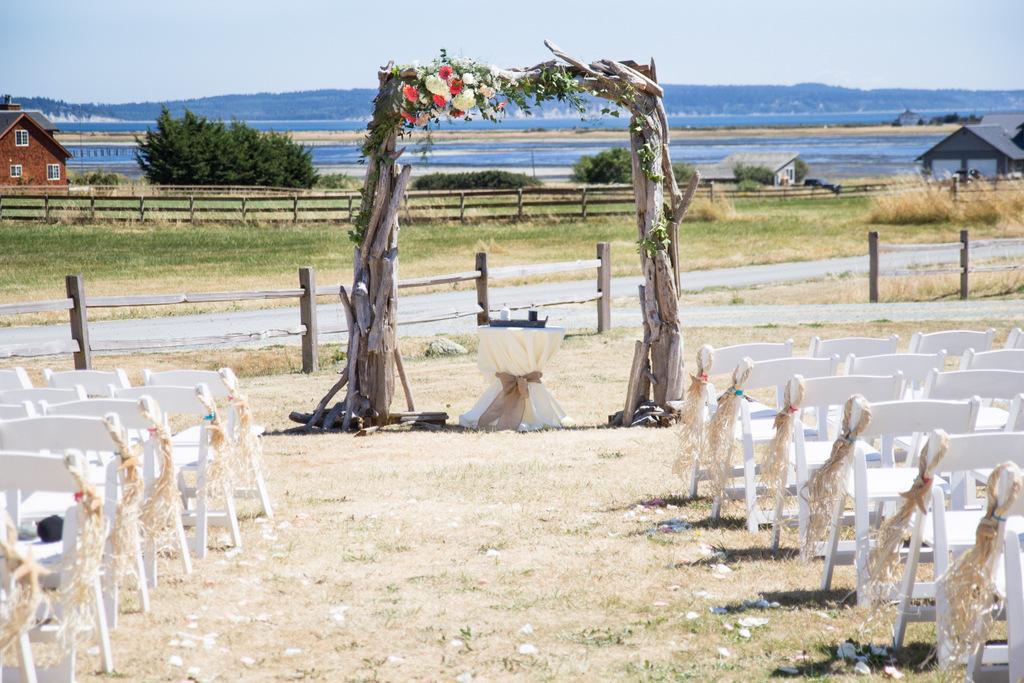 wedding ceremony, sand ceremony, wedding arch